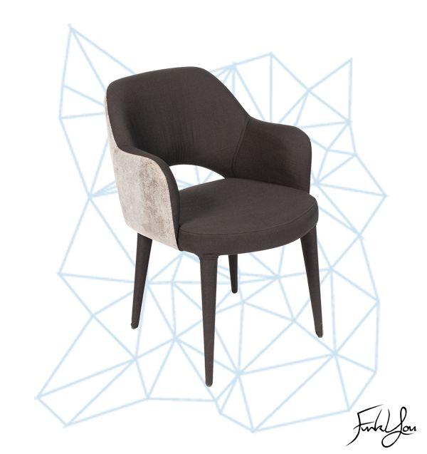 Charlotte Dining Chair - Black / White Snake. www.funkyou.com.au