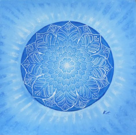 This beautiful blue mandala is responsible for your career.
