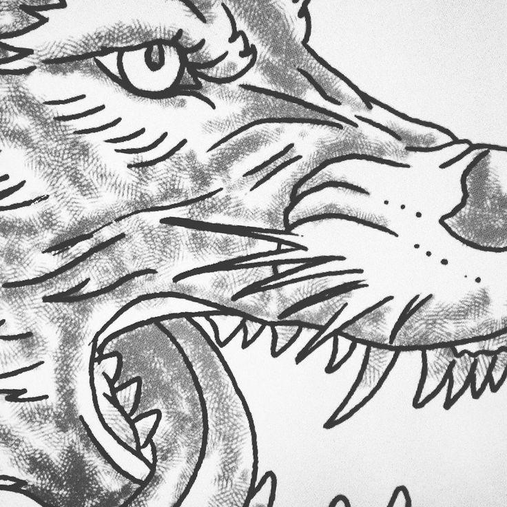 friday is sketching/drawing day #alsdesignstudio #thedustyinklab #aksellarsen #whitetee #9000 #aalborg #denmark #danish #iloveprints #printnerd #print #vintage #worn #wornout #texture #grunge #denim #denimwear #jeans #jeanswear #vintagestyle #vintagefashion #artwork #sketch #drawing #wolf #wolfhead #digital #ink #watercolor