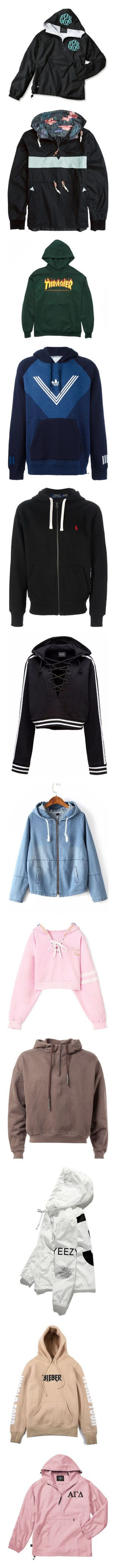 """""""Hoodies 👄💖💎👑"""" by reneemonee42 ❤ liked on Polyvore featuring outerwear, jackets, coats, black, women's clothing, monogrammed pullover, zip pullover, rain jacket, letter jacket and nylon pullover jackets"""