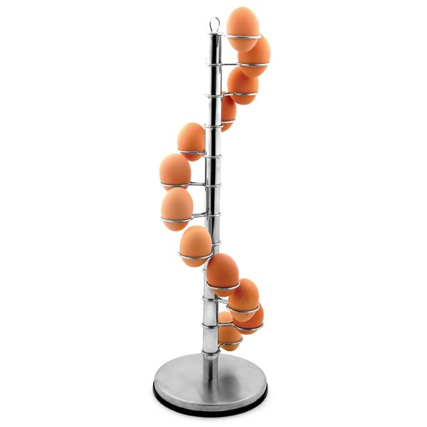 Spiral egg holder is an egg holder, capable of holding 12 Eggs in place and also turning raw food into a decoration. Description from hardwaresphere.com. I searched for this on bing.com/images