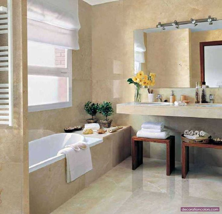 Marble Can Make Even A Small Bathroom Look Chic And Elegant Because Of Its  Luxury And Sophistication. Light Colors, Like Crema Marfil By Levantina, ...