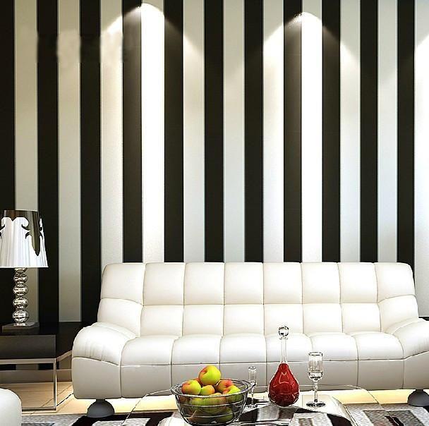 Beautiful Обоев Современная Краткая Вертикальные Черные и Белые Полосы Обоев Для  гостиной фоне стены домашнего декора купить Images