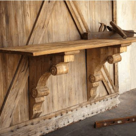 Park Hill Collection Wooden Bracket Console - SDF505