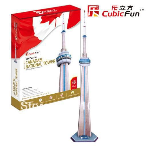 CN Tower Tower CubicFun 3D educational puzzle Paper & EPS Model Papercraft Home Adornment for christmas birthday gift
