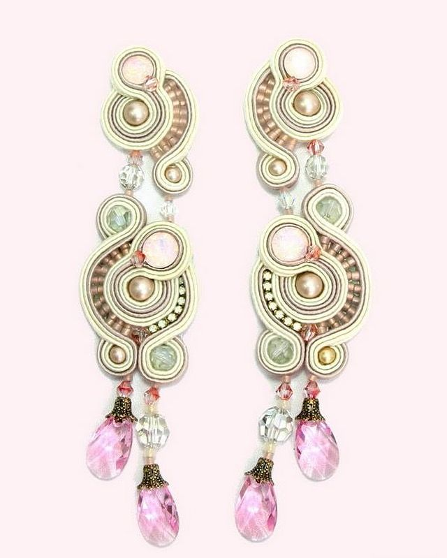 Pink crystals for a romantic look #doricsengeri #earrings #pinkearrings…