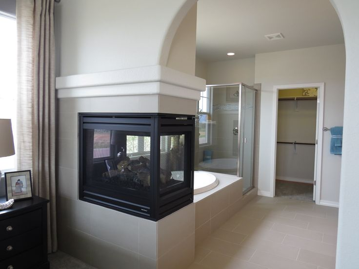 Campbell Homes Carnegie Ranch Style Master Fireplace Meridian Ranch Colorado Springs