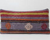 blue purple pillow sofa throw pillow purple decorative pillow bed cushion cover purple pillow sham aztec pillow case kilim pillow sham 17607