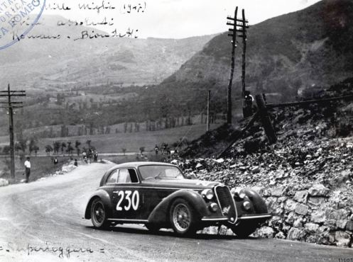 Alfa Romeo 8C 2900, This is the car that won the 1937 Mille miglia, in Italy.