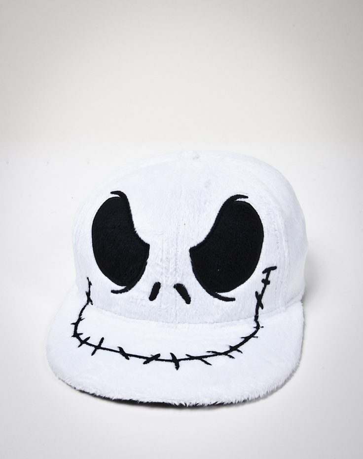 Nightmare Before Christmas Jack Face Furry Flatbill Hat