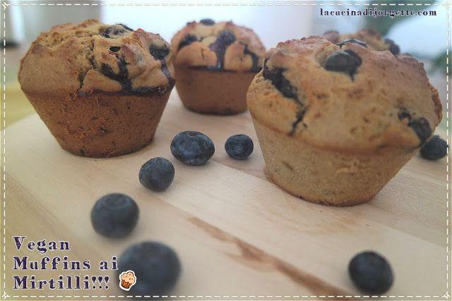 la cucina di Jorgette: Vegan Muffins ai Mirtilli Giganti !!!! - Vegan Giant Blueberry Muffins!!