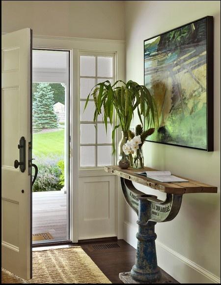 Entryway Table #Entryway #decor #table. Love the table.