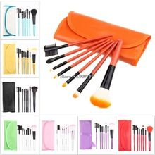 Professional red 7 pcs Makeup brush Tools make up brushes Cosmetic Brushes Free Shipping(China (Mainland))