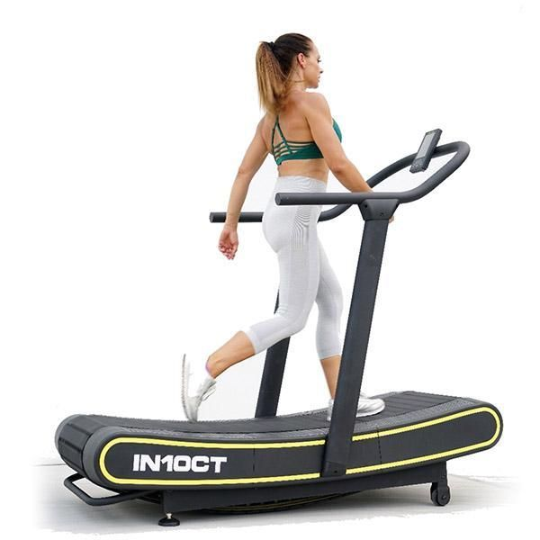 In10ct Health Runner Curved Manual Treadmill In10ct This Treadmill Doesn T Require Power And Can Be Placed Virt Treadmill Aerobics Workout Interval Workout