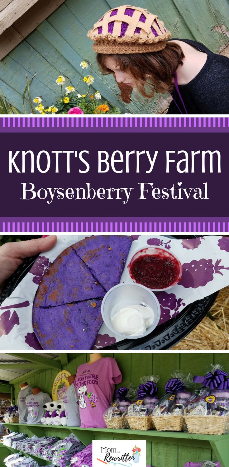Knott's Berry Farm in Buena Park celebrates at their annual Boysenberry Festival. See what amazing boysenberry-inspired foods there are to taste as well as a guide on what to see and experience during this unique special event! #VisitBuenaPark AD