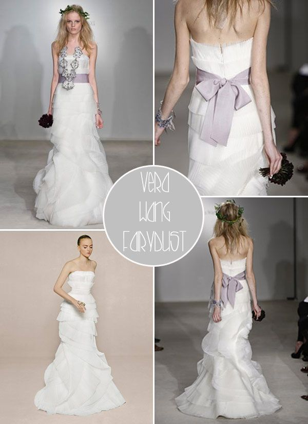 fairydust dress by vera wang. lilac sash