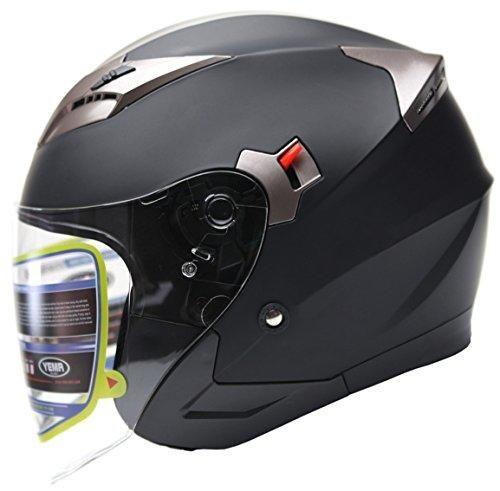 Oferta: 59.99€ Dto: -32%. Comprar Ofertas de YEMA Helmet YM-627 Casco Jet Moto con Doble Visera-Negro Mate-S barato. ¡Mira las ofertas!