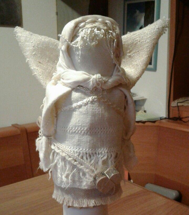 Angioletto in stile shabby motanka - di Luisa Valent