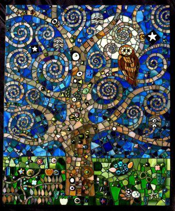 Klimts Midnight Garden by Michelle Wilcox