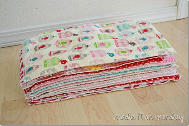 Baby Burp Cloth With Funny Expression Saying: I Bought A Quarter Yard Of Each Flannel Fabric (I Got 2
