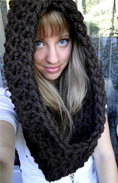 """PATTERN download PDF hooded cowl scarf """"Wrap Your Arms Around Me Cowl"""""""