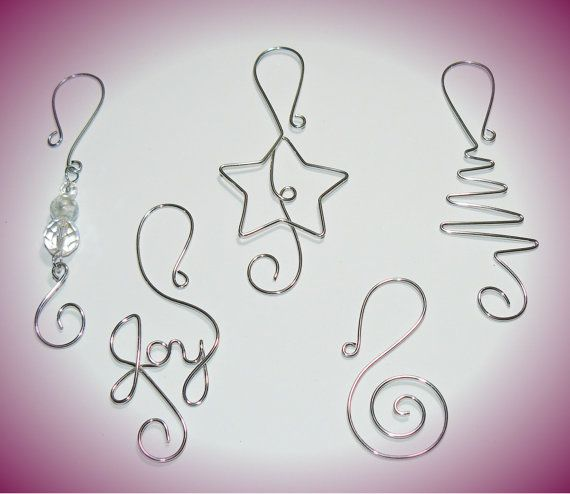 Christmas Ornament Hooks TWO packages - Holiday Decorations - Christmas Ball Hooks - Ornament Hangers