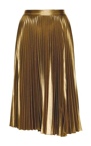 Metallic Pleated Gates Midi Skirt by A.L.C. Now Available on Moda Operandi