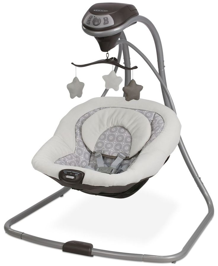 The Graco Simple Sway Swing is a simple and space-conscious solution for swinging away to dreamland. With two vibration settings, a plush seat with removable head support, and six swinging speeds, the