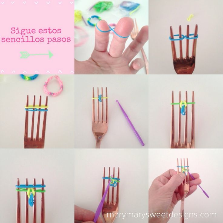 tutorial pulsera de gomitas