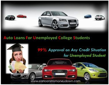 Get Instant Car Loans For Unemployed College Students