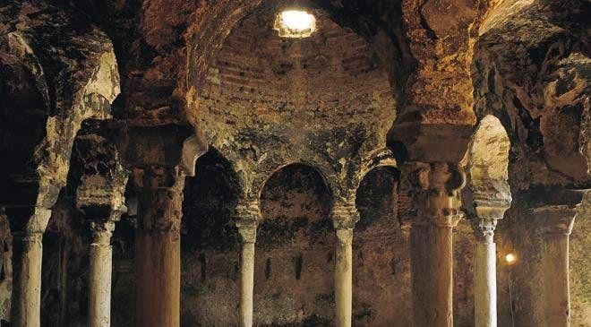 Interior. Arab baths. Palma. Majorca © Turespaña