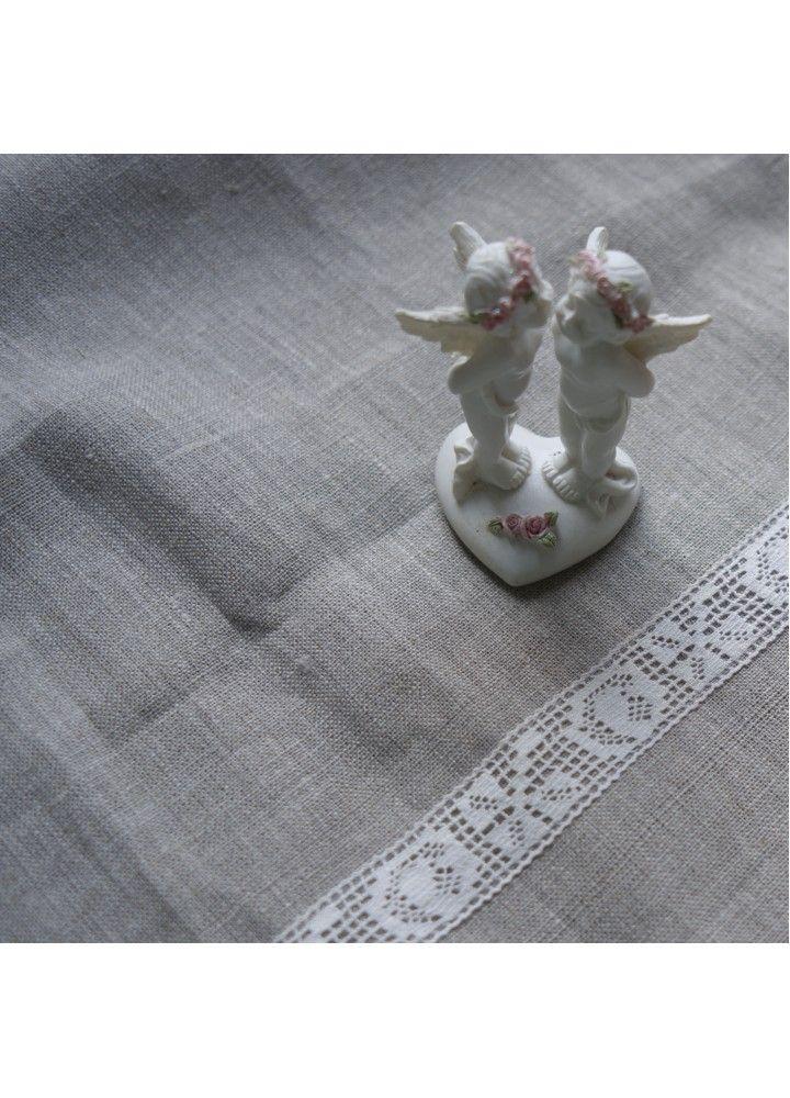 Льняное полотенце с кружевом #фартук #лён #apron #linen #rustickitchen #napkins #tableclodth #салфетки