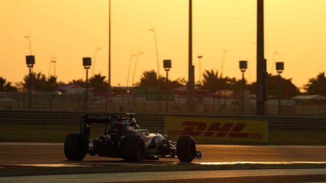 Nico Hulkenberg during Qualifying for the 2016 Abu Dhabi Grand Prix