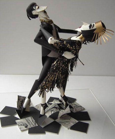 Dancing Paper People: Paperwork, Art Sculpture, Paper Dolls, Paper Sculpture, Paperart, Paper Work, Paper Artworks, Contemporary Art, Sher Christopher