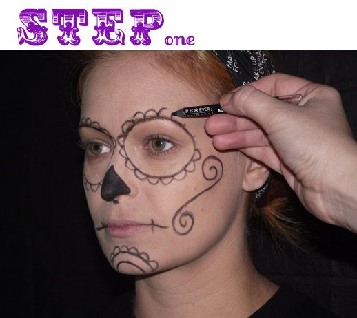 Image detail for -... ever has provided this step by step guide to a day of the dead face