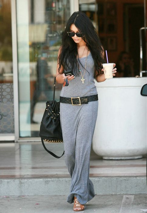 I like the black and grey: Long Dresses, Fashion Beautiful, Vanessa Hudgens, Street Style, Maxis Dresses, Comfy Casual, Casual Looks, The Dresses, Grey Dresses
