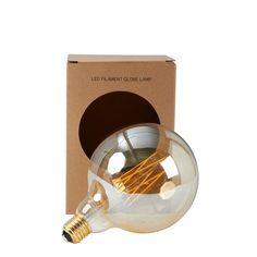 LED-Lampe Kugel Gold L, Gold