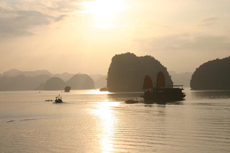 Somewhere in Halong Bay, Vietnam
