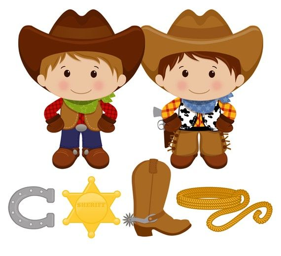 Little Cowboy Digital Clip Art Personal and by printcandee