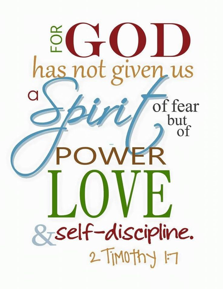 HE has given us a spirit of power, love, and self-discipline ❤️ not fear, anxiety, worry, and doubt - Thank YOU GOD!