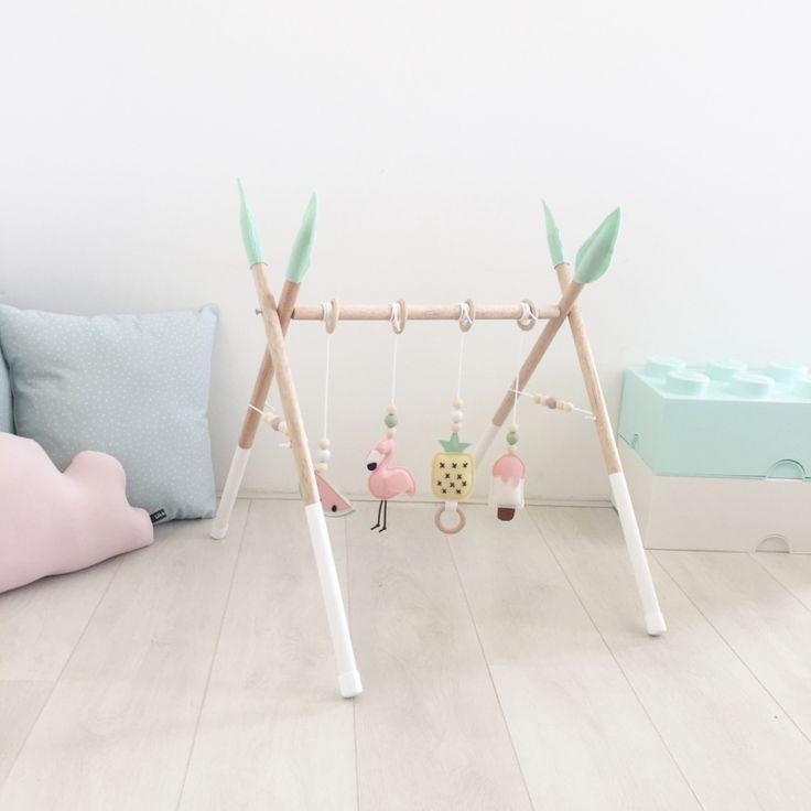 Tropical Baby Gym - Arche d'éveil pour bebe en bois