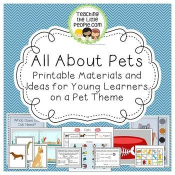 This unit is designed to provide ideas and activities that will supplement a Pet… – Pets