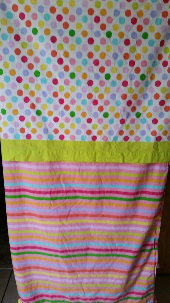komboze twin flat sheet bedskirt polka dot stripes