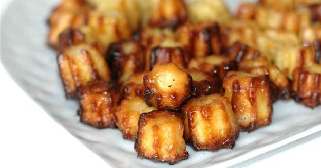 #recette Mini #cannelés #salés chèvre et miel