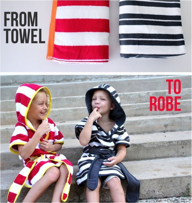 from towel to beach robes pattern  great keep towels from falling off and dragging in the sand all wet.