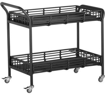 Kruger Black Bar Cart - contemporary - Outdoor Serving Carts - Crate&Barrel