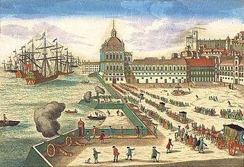 Palacio de Ribeira de Lisboa, construido en 1511 - Destruido por un terremoto y un incencio en 1755-
