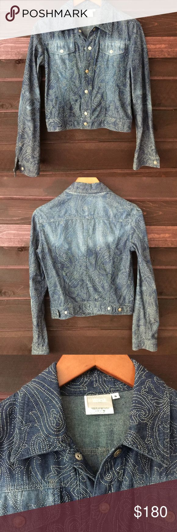 Versace embellished denim jacket Beautiful Versace jacket, lightweight denim Versace Jackets & Coats Jean Jackets