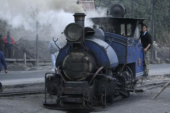 The steam engine getting ready