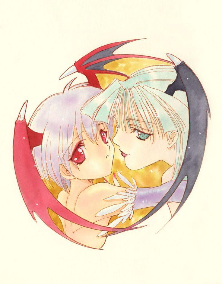 Lilith and Morgan / Dark Stalkers / aoi nanase